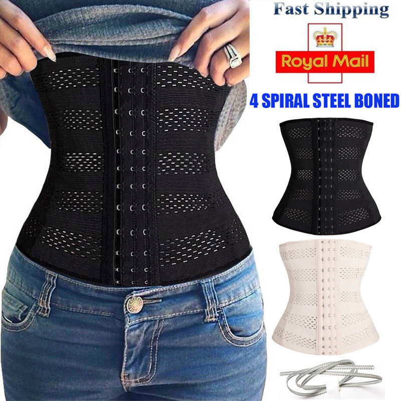 a83a5d7a0d Free postage. Image is loading Slimming-Corset-Stomach-Waist-Trainer-Girdle -Control-Cincher-