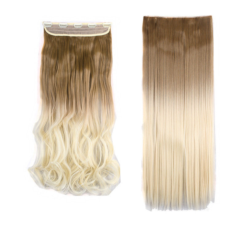 Pop ombre dye 5 clips one piece clip in hair extensions blonde pop ombre dye 5 clips one piece clip pmusecretfo Images