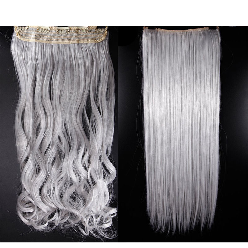 Pop Ombre Dye 5 Clips One Piece Clip In Hair Extensions Blonde Brown