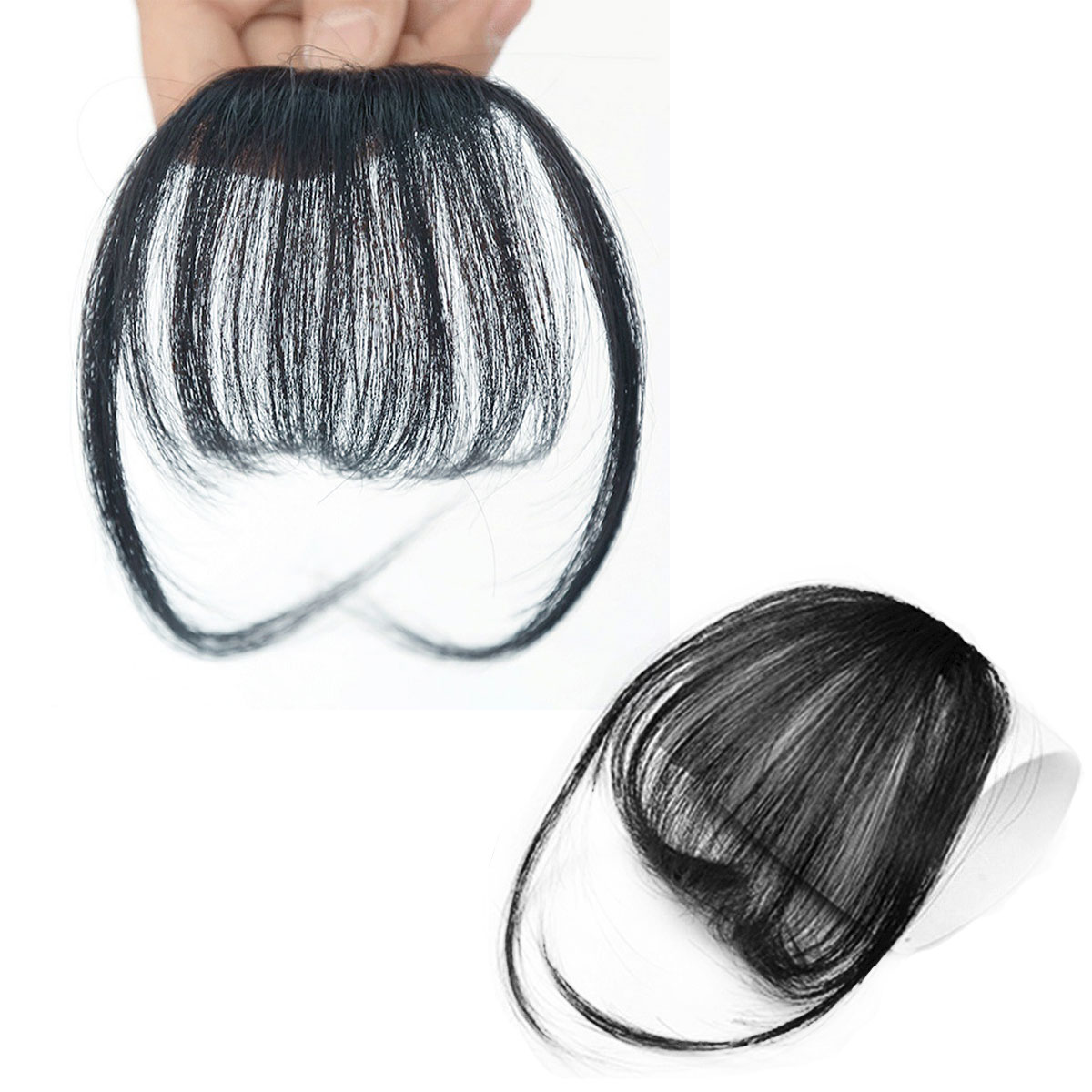 Thin Air Hair Bangs As Human Hair Extensions Clip In Fringe Front
