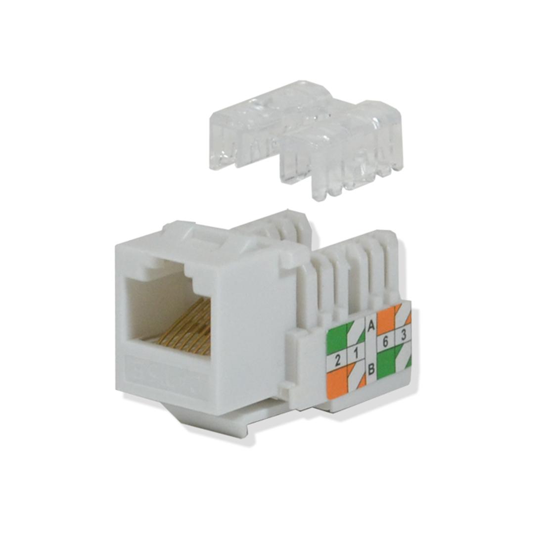 cat5e keystone jack 110 punch down network ethernet rj45. Black Bedroom Furniture Sets. Home Design Ideas