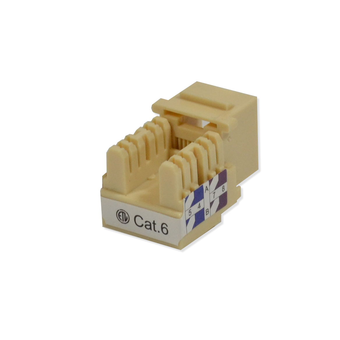 25 Pack Lot Keystone Jack Cat6 Ivory Network Ethernet 110