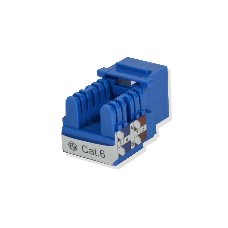 100 pack lot Keystone Jack Cat6 Blue Network Ethernet 110