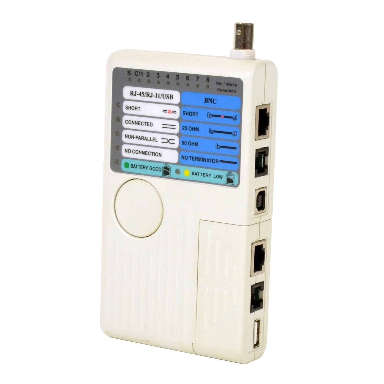 4 In 1 Network Cable Tester Rj45 Rj11 Usb Bnc Lan Cat5 Cat6 Wiring Diagram Wire 804551050596 Ebay