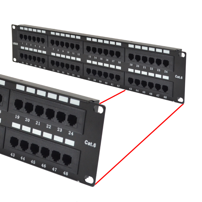 48 port patch panel specs