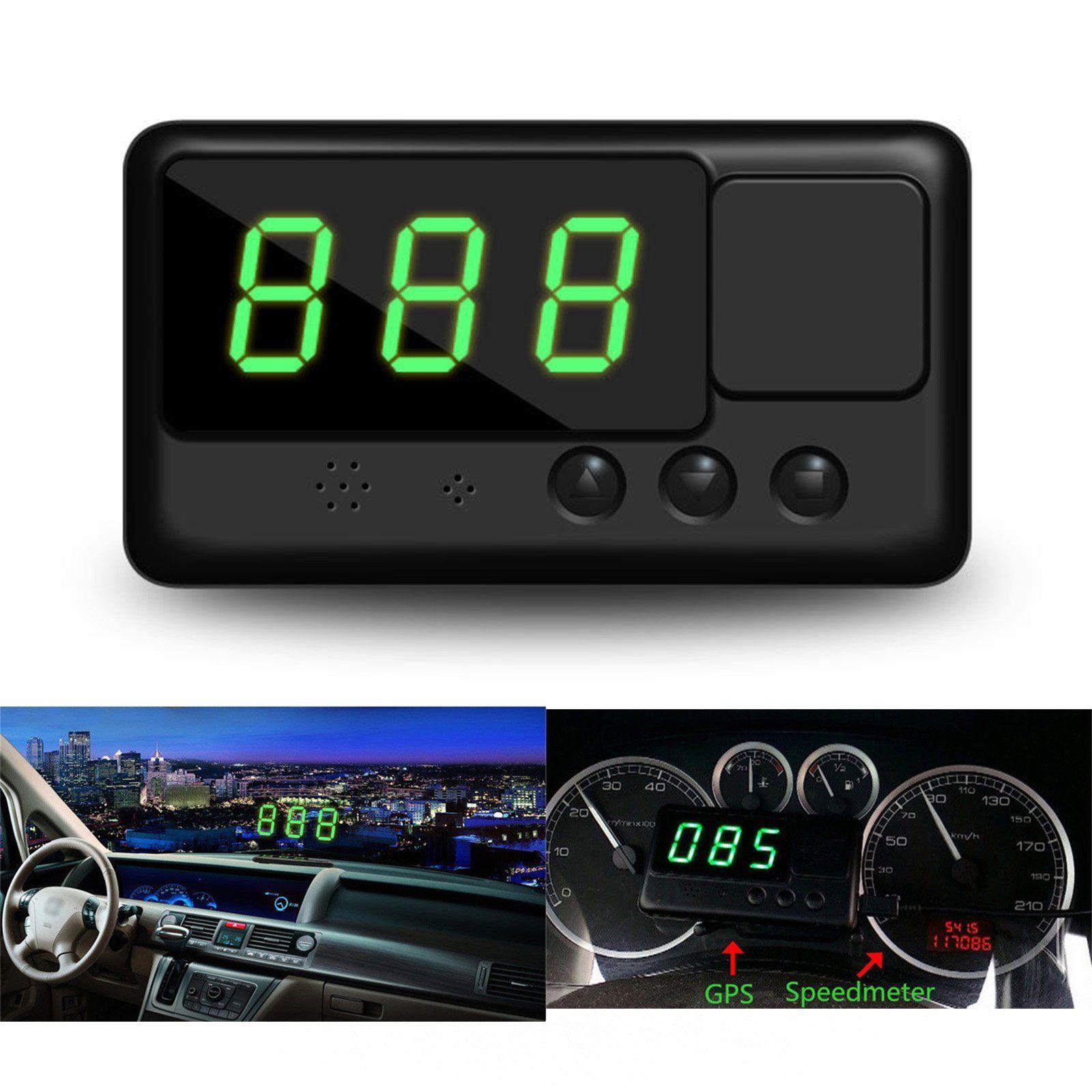Us Head Up Car Hud Gps Digital Speedometer Display Mph  Km