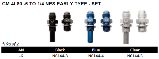 AN Fittings & Hoses - Adapters - GM Transmission Cooler Line Fittings