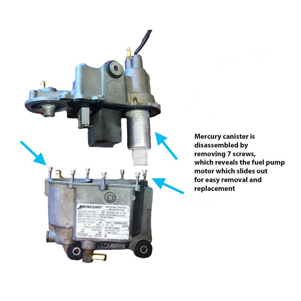 Quantum Fuel Pump Mercury Sport Jet Outboard 210HP M2 210 HP 240 HP ENGINE 02-06