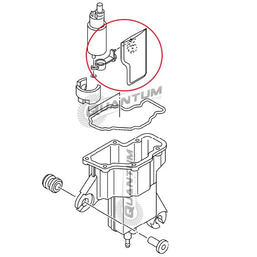 yamaha oem fuel strainer replacement for vst 6bg
