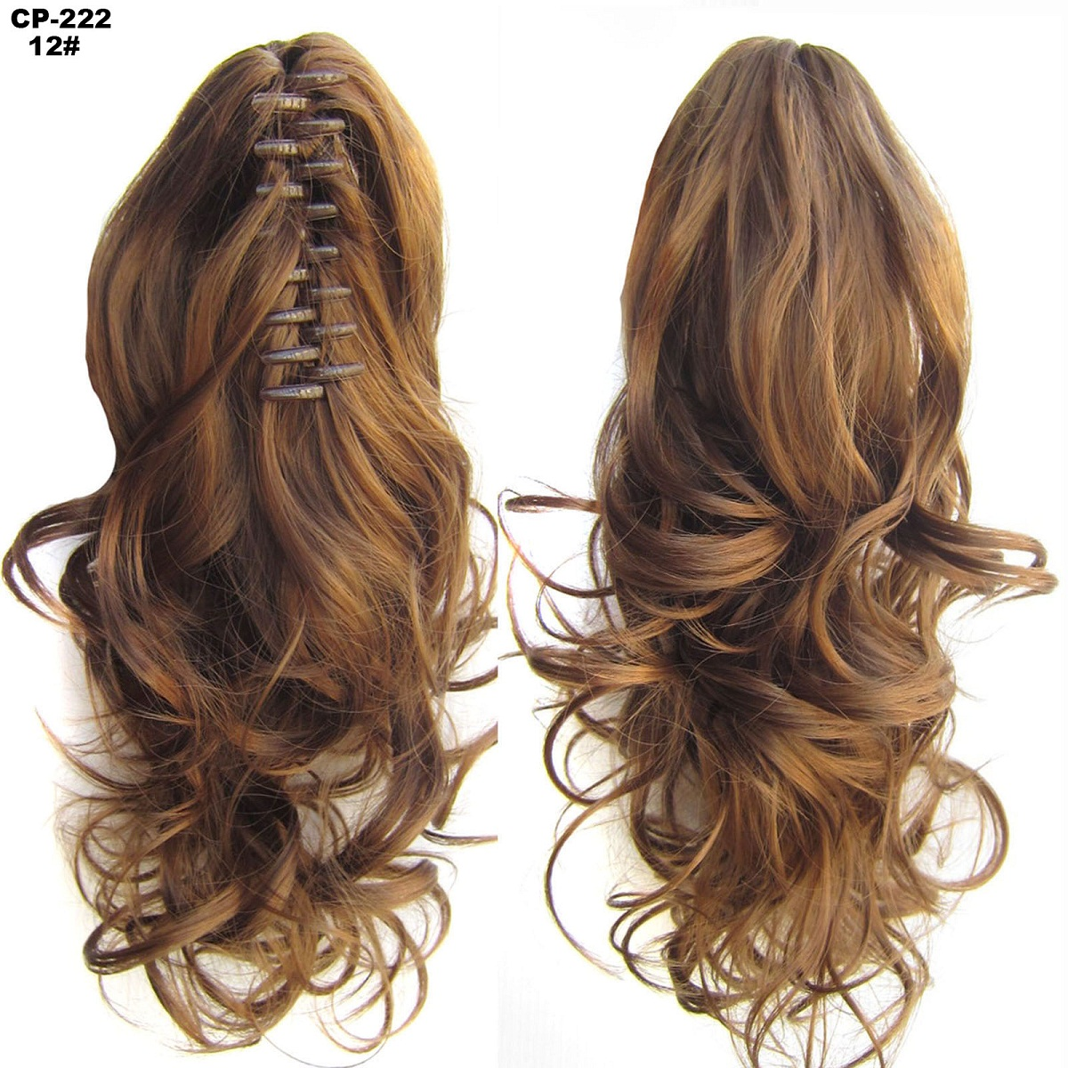 12pcs Ponytail Clip In Hair Extensions Claw On Pony Tail Real For