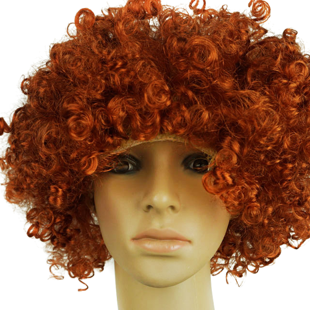 70s 80s Disco Circus Afro Clown Hair Wig Fancy Dress Up Costume ... ff4873e8238f