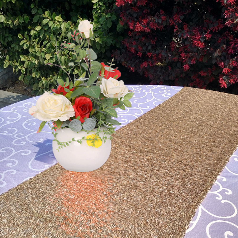 Glitter-Sequin-Table-Runners-Cloth-Rose-Gold-Silver-Sparkly-Wedding-Party-Decor thumbnail 10