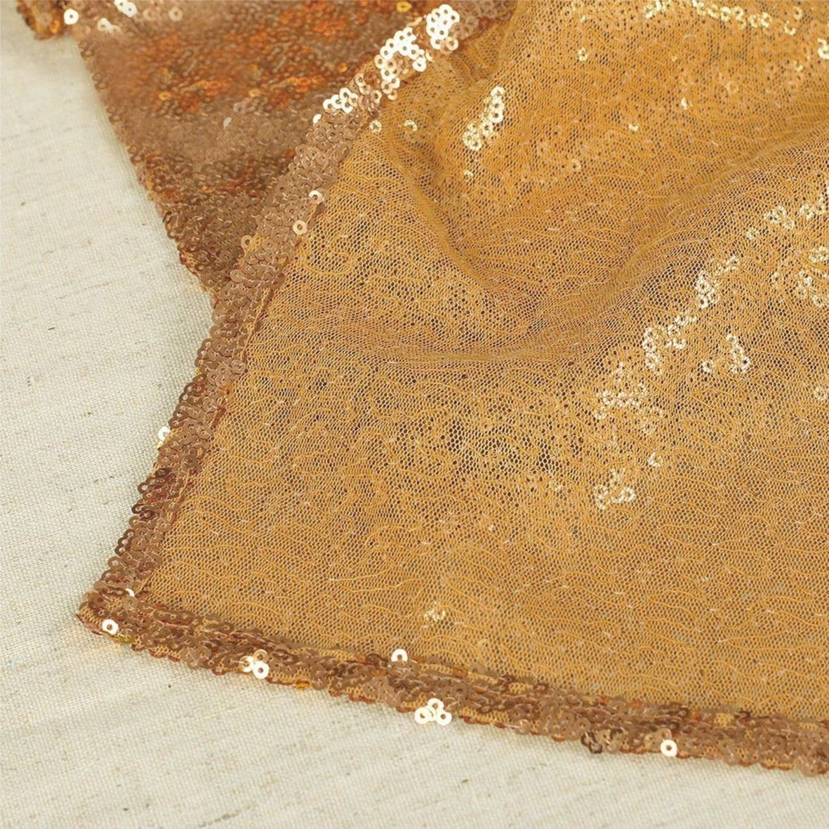 Glitter-Sequin-Table-Runners-Cloth-Rose-Gold-Silver-Sparkly-Wedding-Party-Decor thumbnail 11