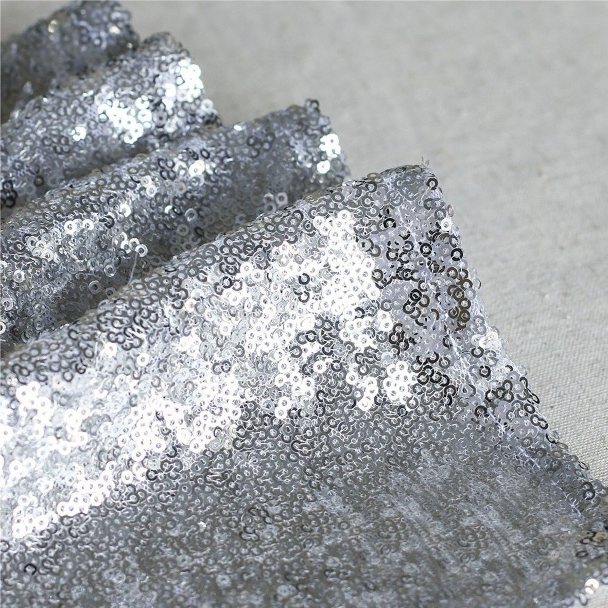 Glitter-Sequin-Table-Runners-Cloth-Rose-Gold-Silver-Sparkly-Wedding-Party-Decor thumbnail 23