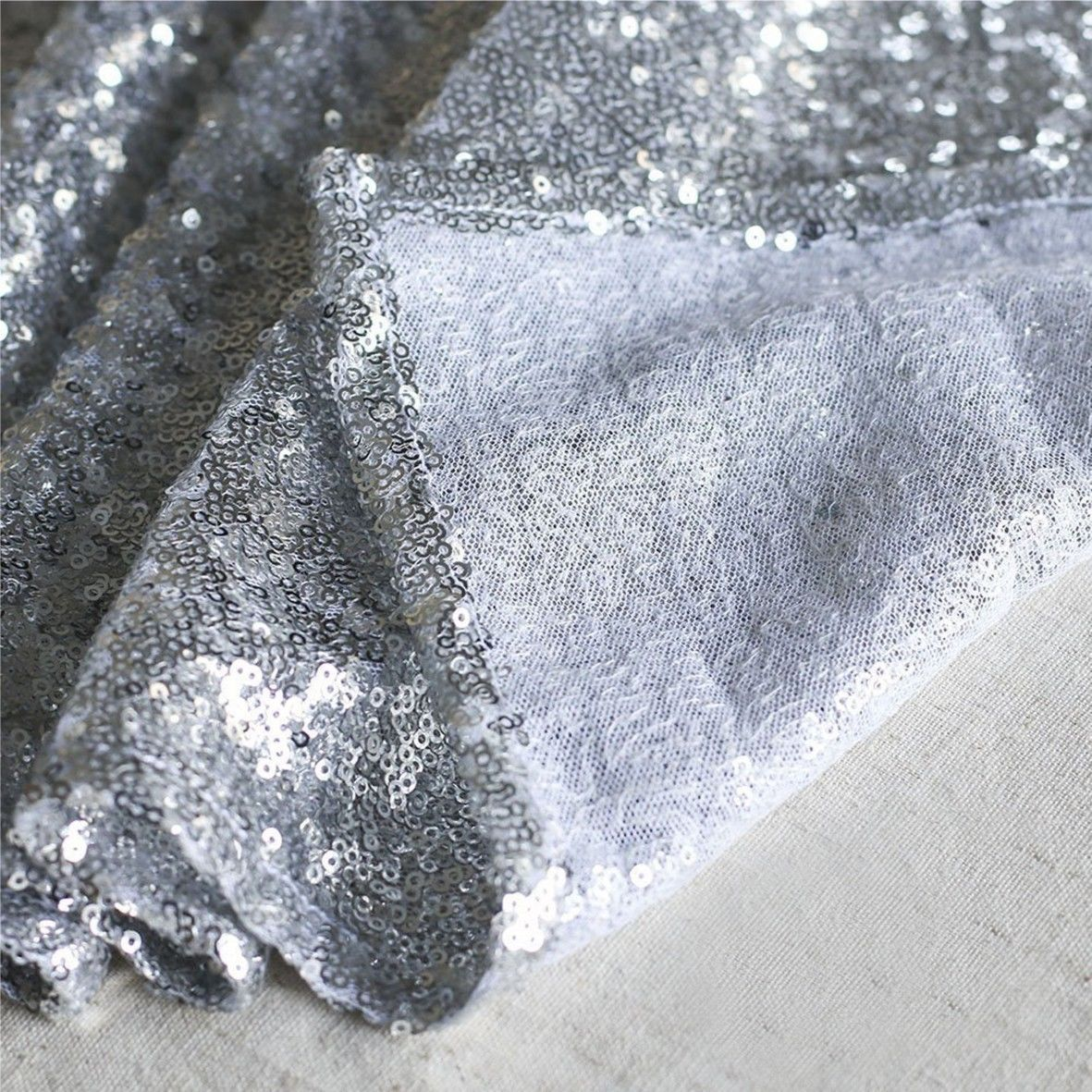 Glitter-Sequin-Table-Runners-Cloth-Rose-Gold-Silver-Sparkly-Wedding-Party-Decor thumbnail 24
