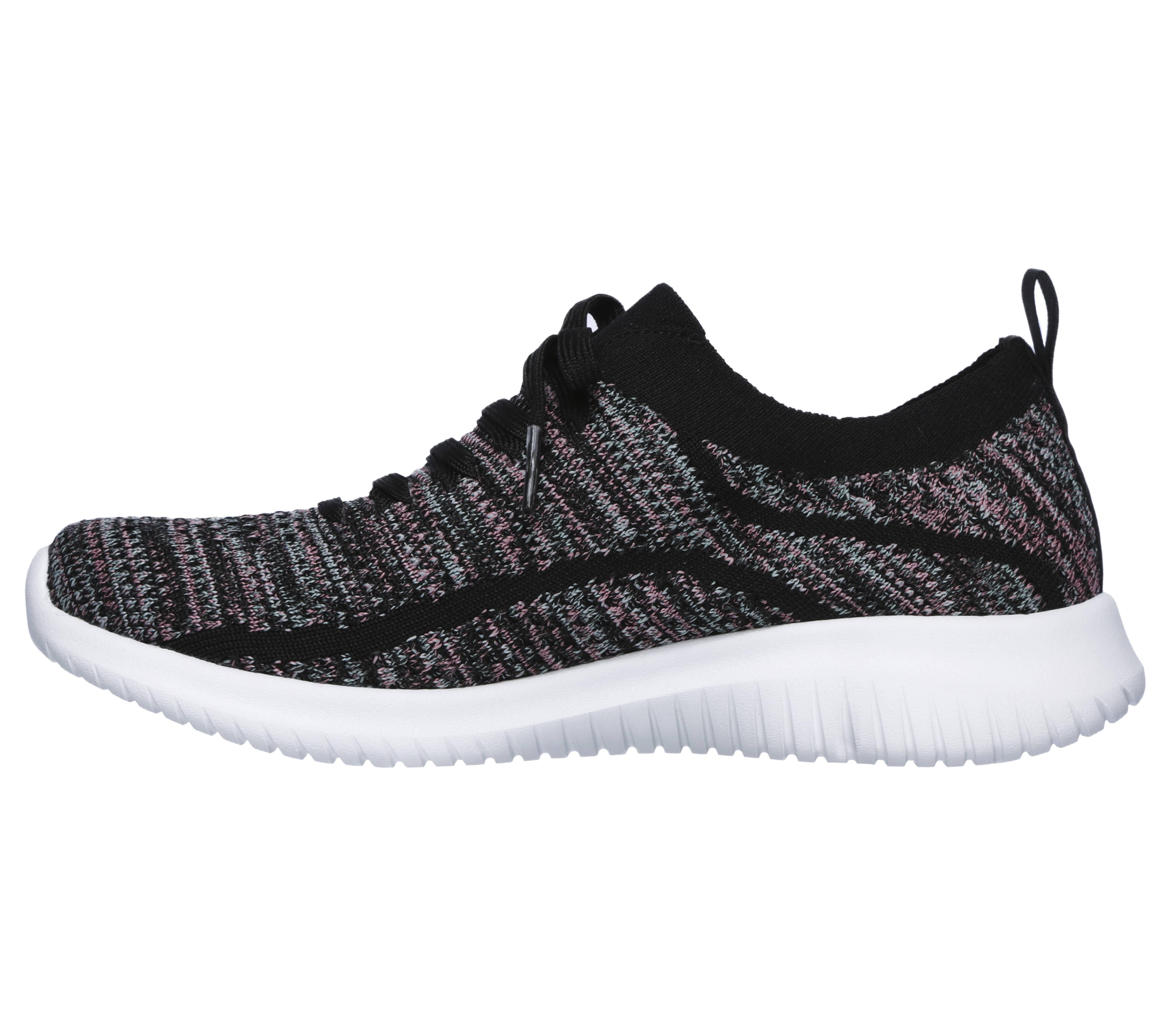 Details about Women Skechers ULTRA FLEX STATEMENTS 12841 BKMT BLACKMulti Lace Up Walking Shoes