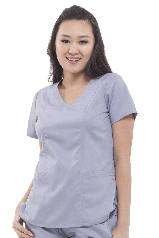 91323a1cb4e Purple Label Women's Jordan 2172 Mock Wrap Scrub Top Healing Hands ...