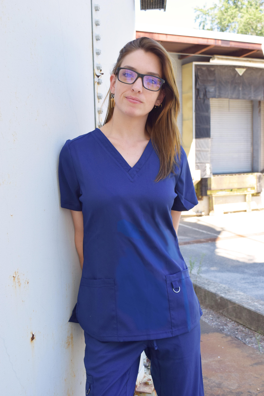 Soulful-Scrubs-Women-039-s-2336-2-Pocket-V-Neck-Scrub-Top miniature 14