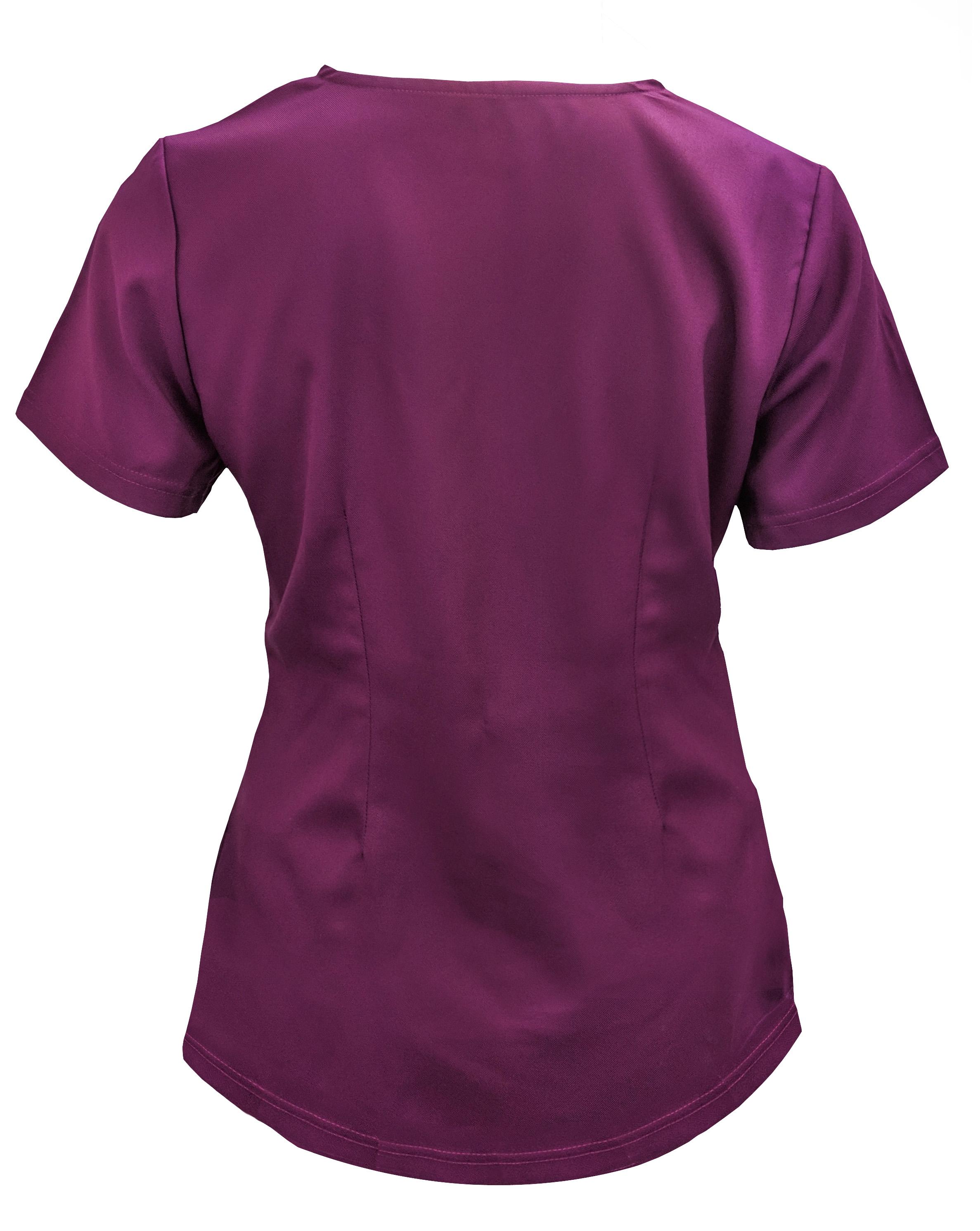 Soulful-Scrubs-Women-039-s-2336-2-Pocket-V-Neck-Scrub-Top miniature 22