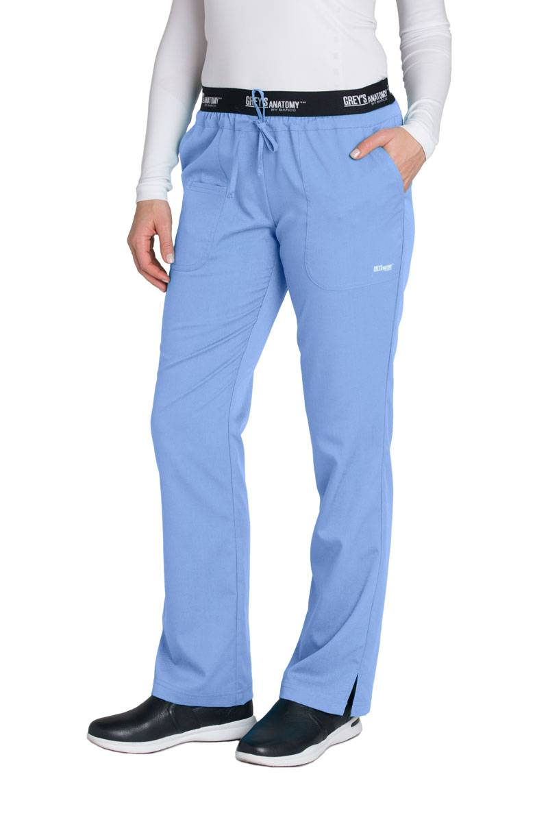 stretch core drawstring medium flare products fit ceilings color blue ceil workwear junior pant cherokee