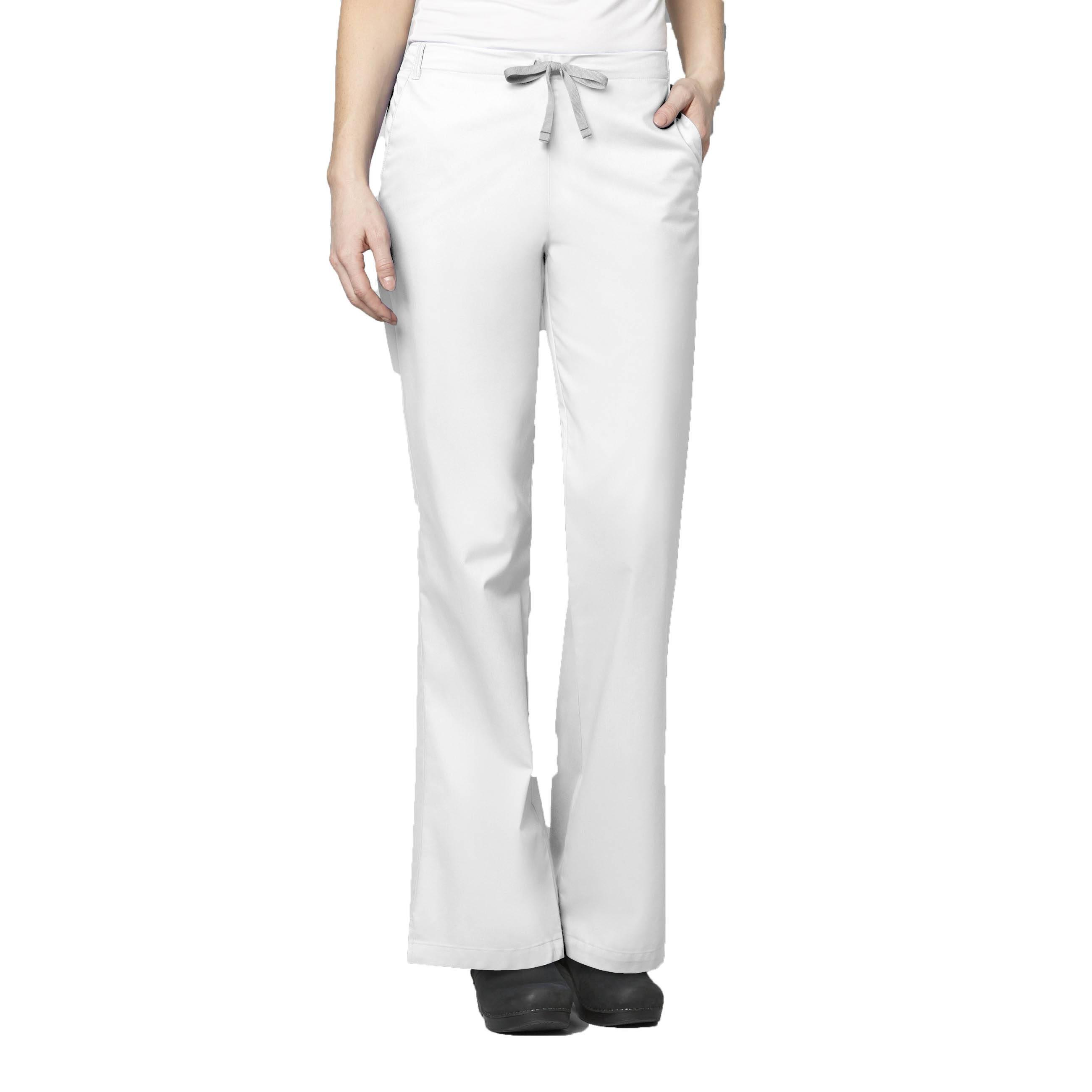 02b015145fd WonderWink 'wonderwork Flare Leg Pant' Scrub Bottoms White 2xl   eBay