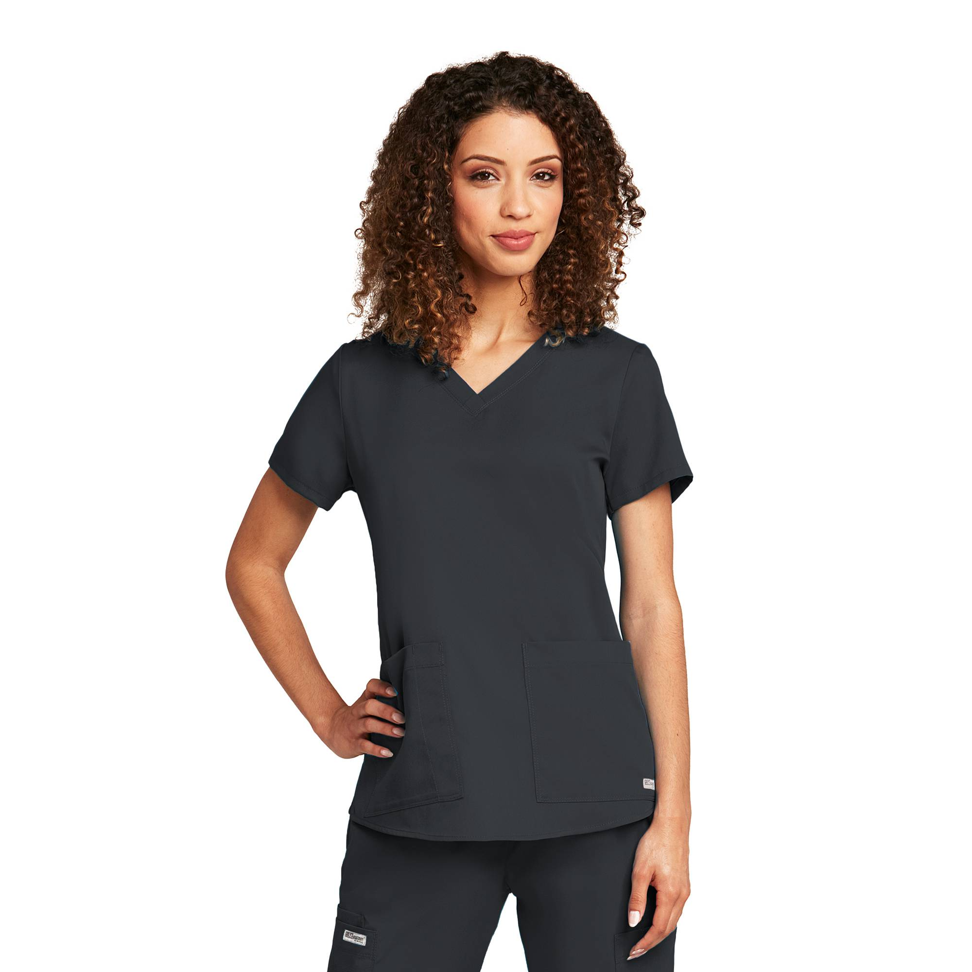 Grey\'s Anatomy Women\'s 71166 2 Pocket V-Neck Scrub Top w/ Shirring ...