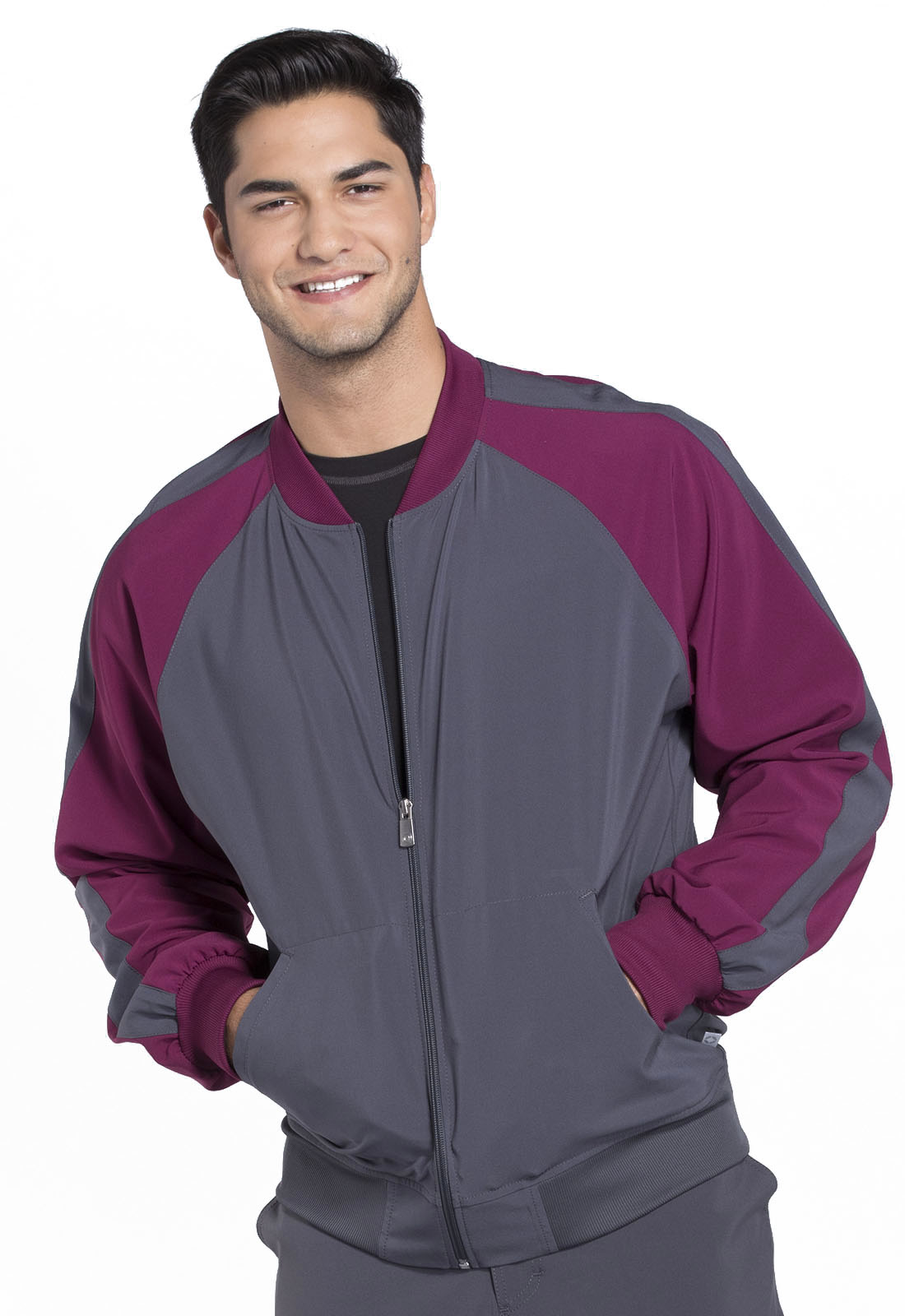men s ck330a zip up scrub jacket