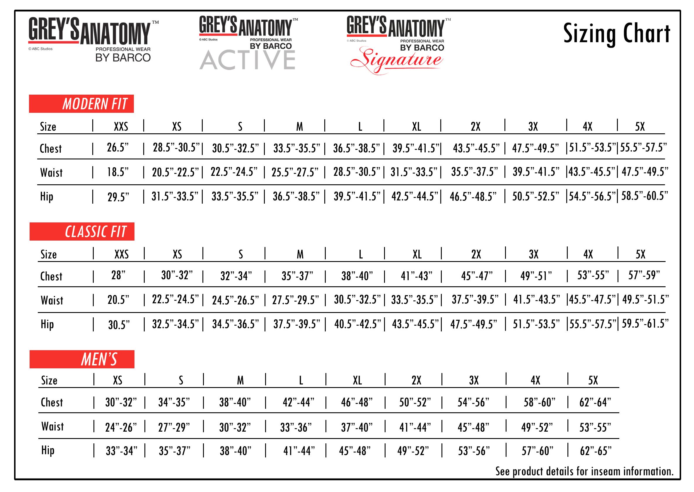 Grey/'s Anatomy Signature Womens 2130 3 Pocket Wrap Detail Top-NEW-FREE SHIP