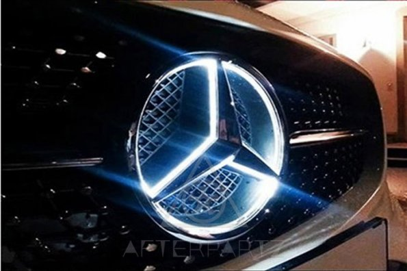 2017 led halo kit for mercedes benz center emblem badge for Illuminated star mercedes benz installation