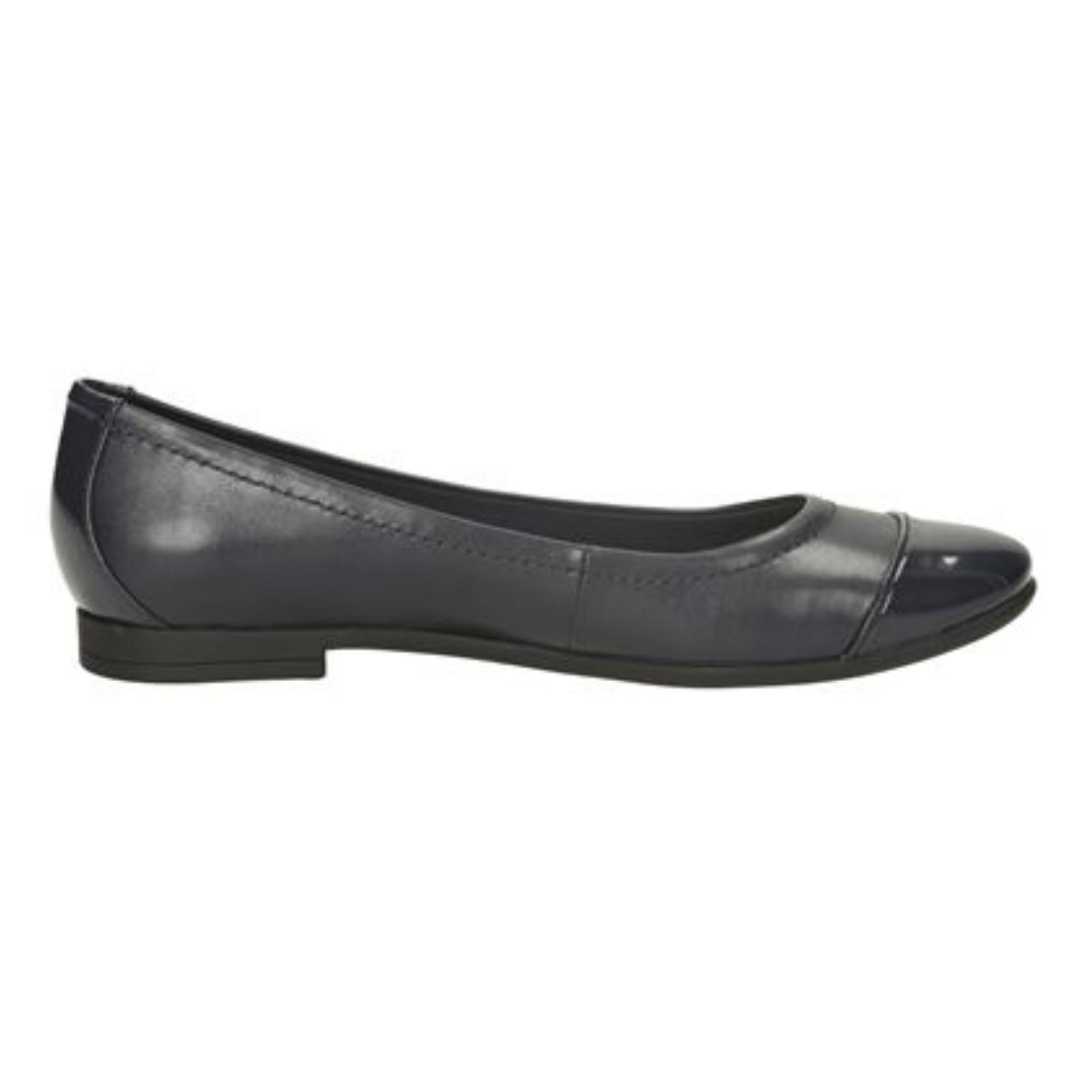 Navy Leather Womens Casual Shoes