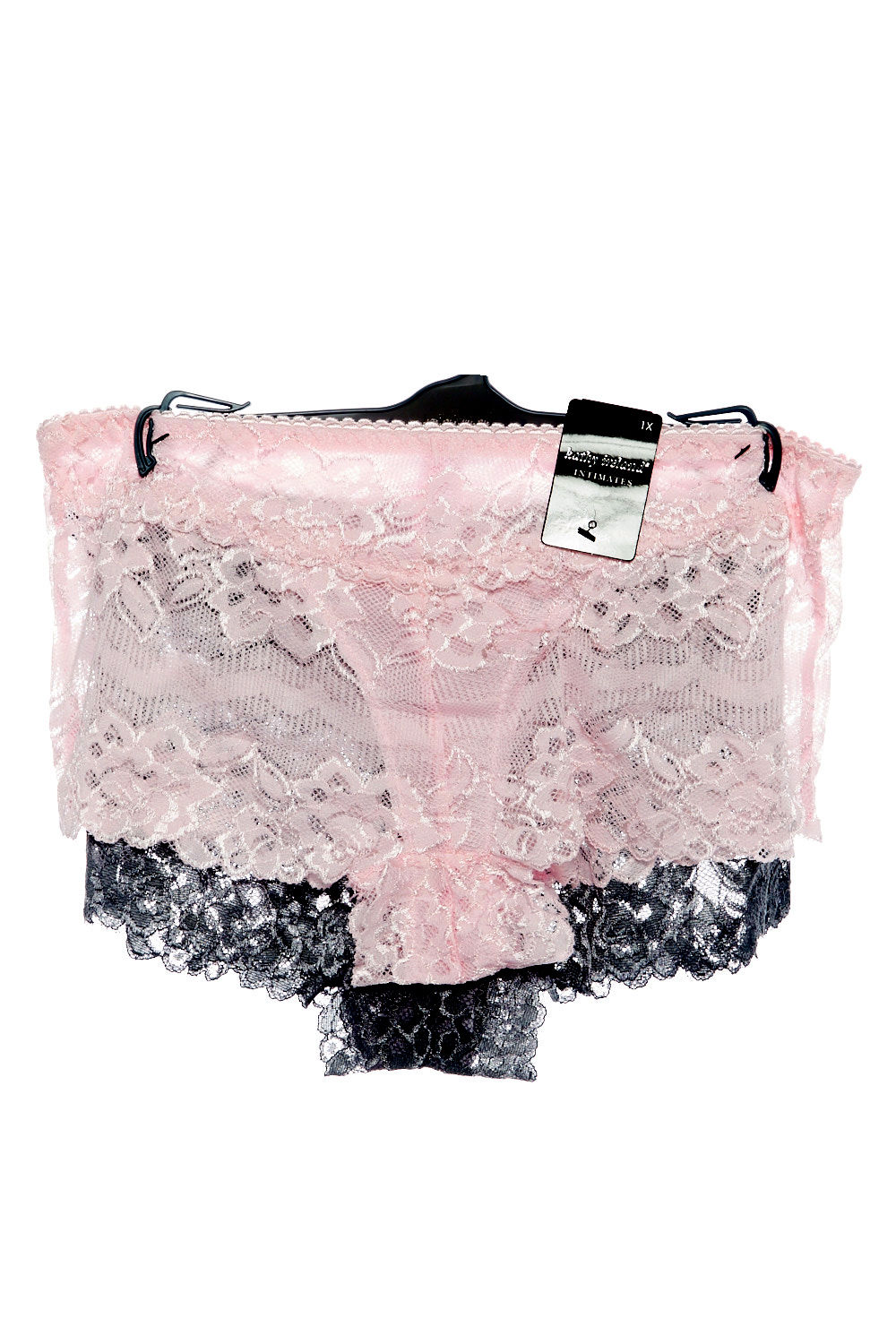 2e6afe7b591c Womens Plus Size 2 Pcs Full Floral Lace Boyshort Panties Set Pink/grey XL.  About this product. Picture 1 of 3; Picture 2 of 3 ...