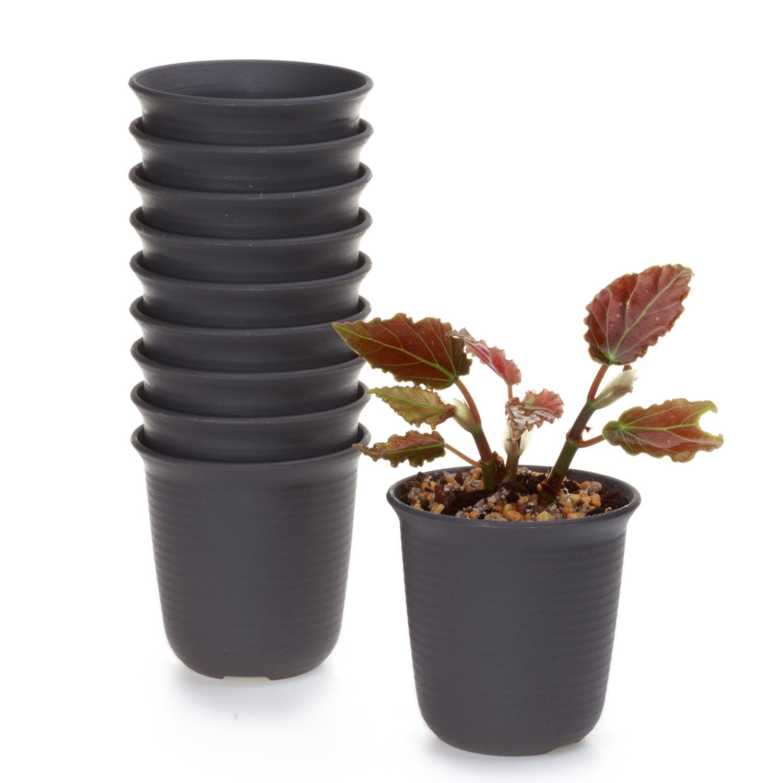 10x 3 inch Plastic Round Succulent Plants Flower Pot Saucer