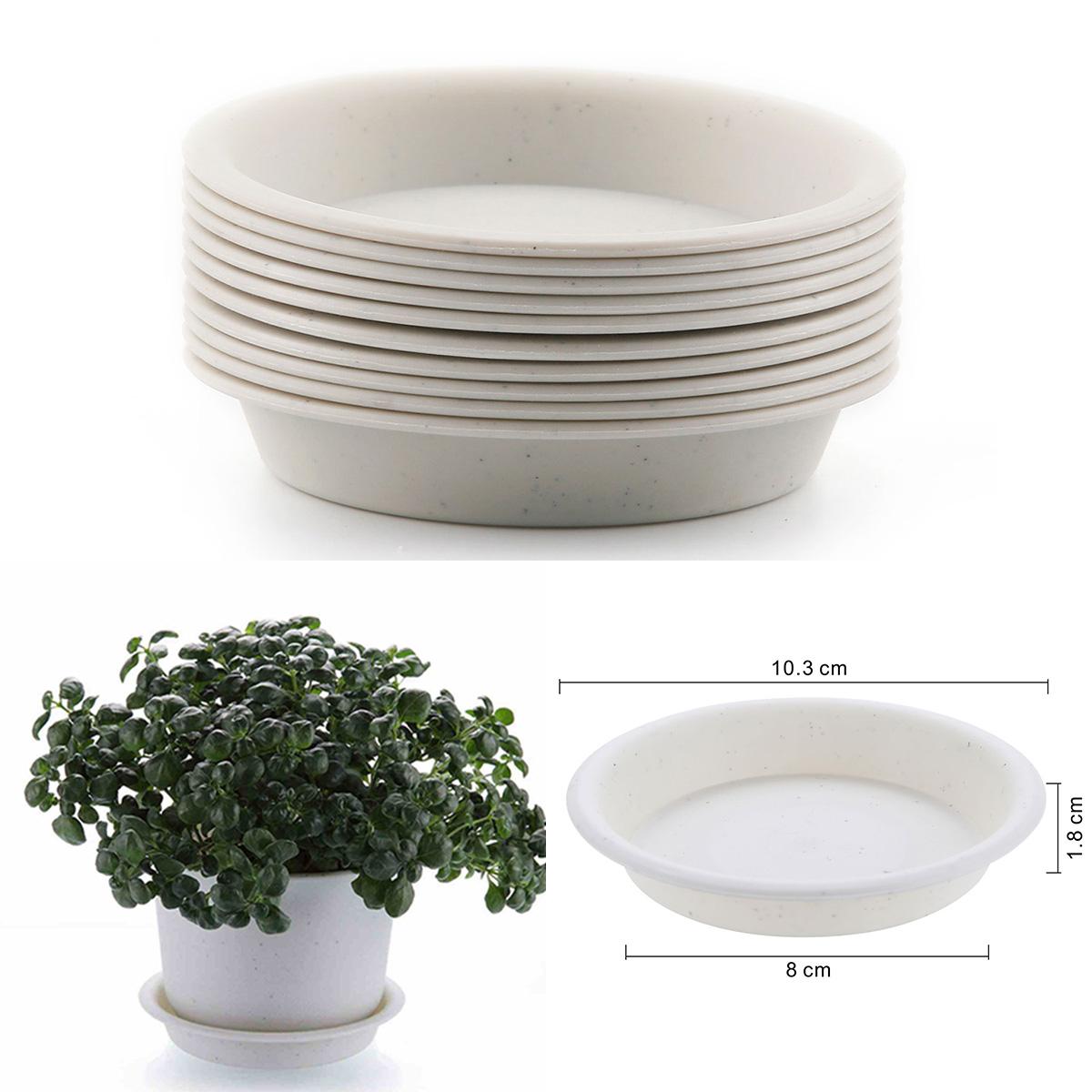 225 & Details about 10Pcs Beige 4 inch Plastic Round Succulent Plants Flower Pot Saucer Trays T4U