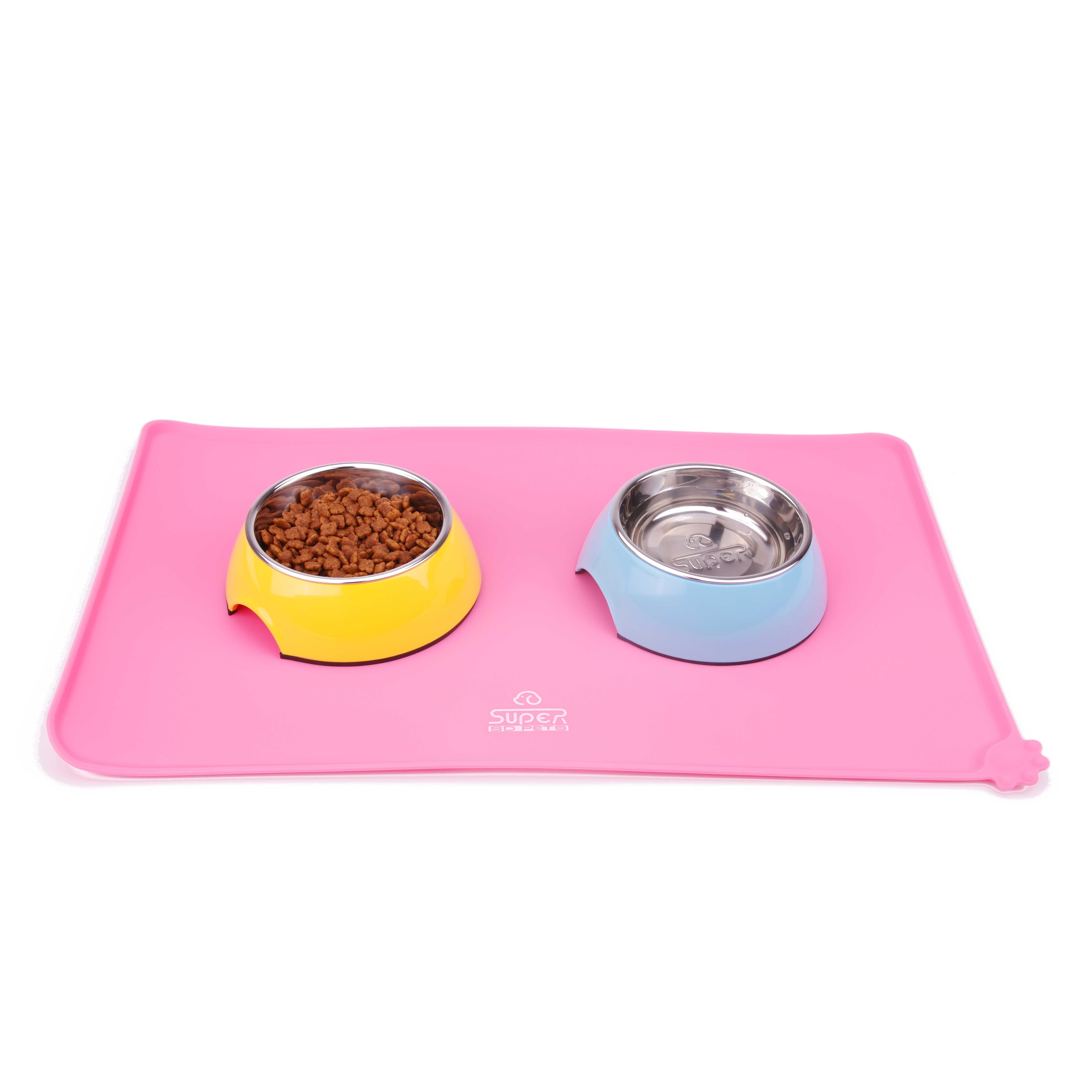 Dog Food Bowl Mat Silicone Dog Placemat Pet Feeding Mat