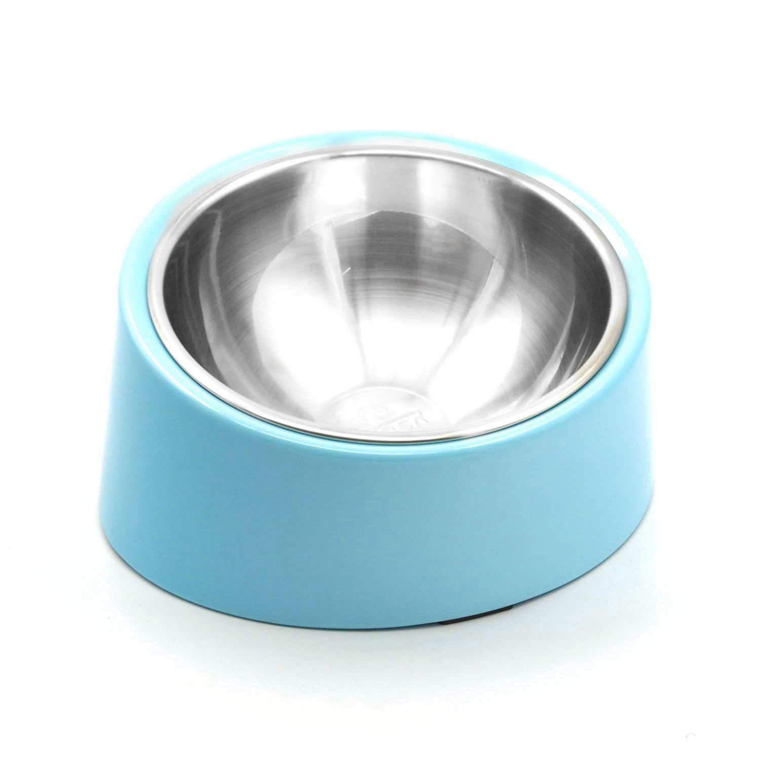 Stainless Steel Dog Cat Bowl Removable Raised Bowl Food Feeder 15 Degree Slanted Pet Supplies