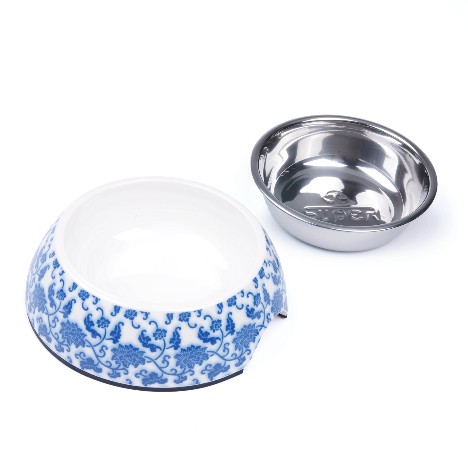 Dog Bowls With Water And Food In One Bowl