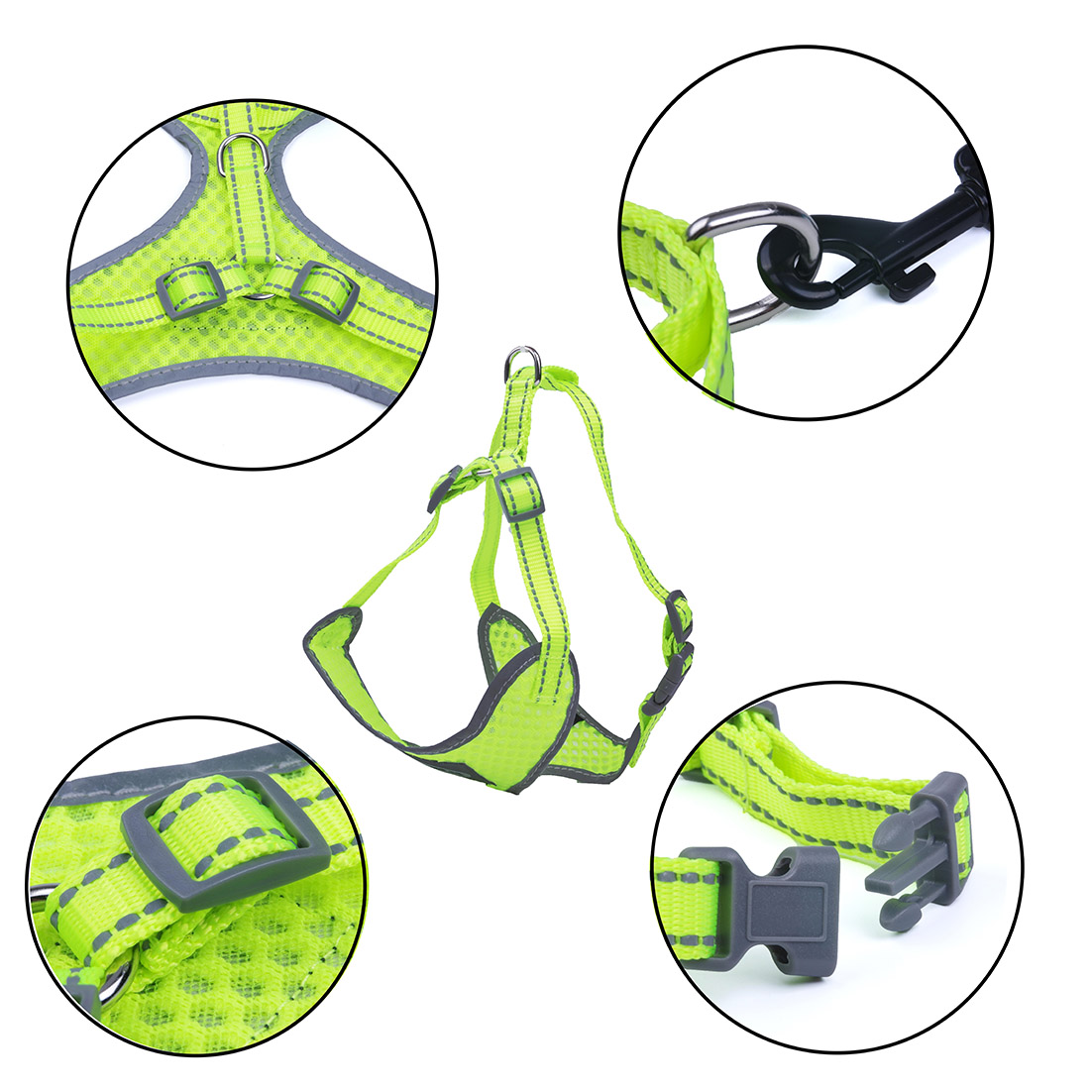 Breathable-Mesh-Puppy-Dog-Harness-Vest-Adjustable-Soft-Walk-Collar-No-Pull thumbnail 32