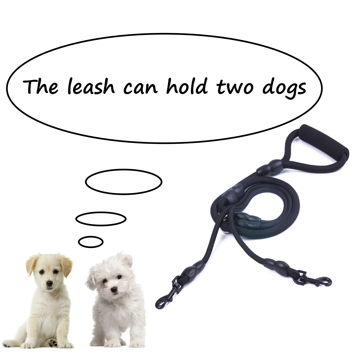 Dual-Double-Dog-Leash-Walking-No-Tangle-Lead-2-Way-Coupler-For-2-Pet-Dogs thumbnail 10