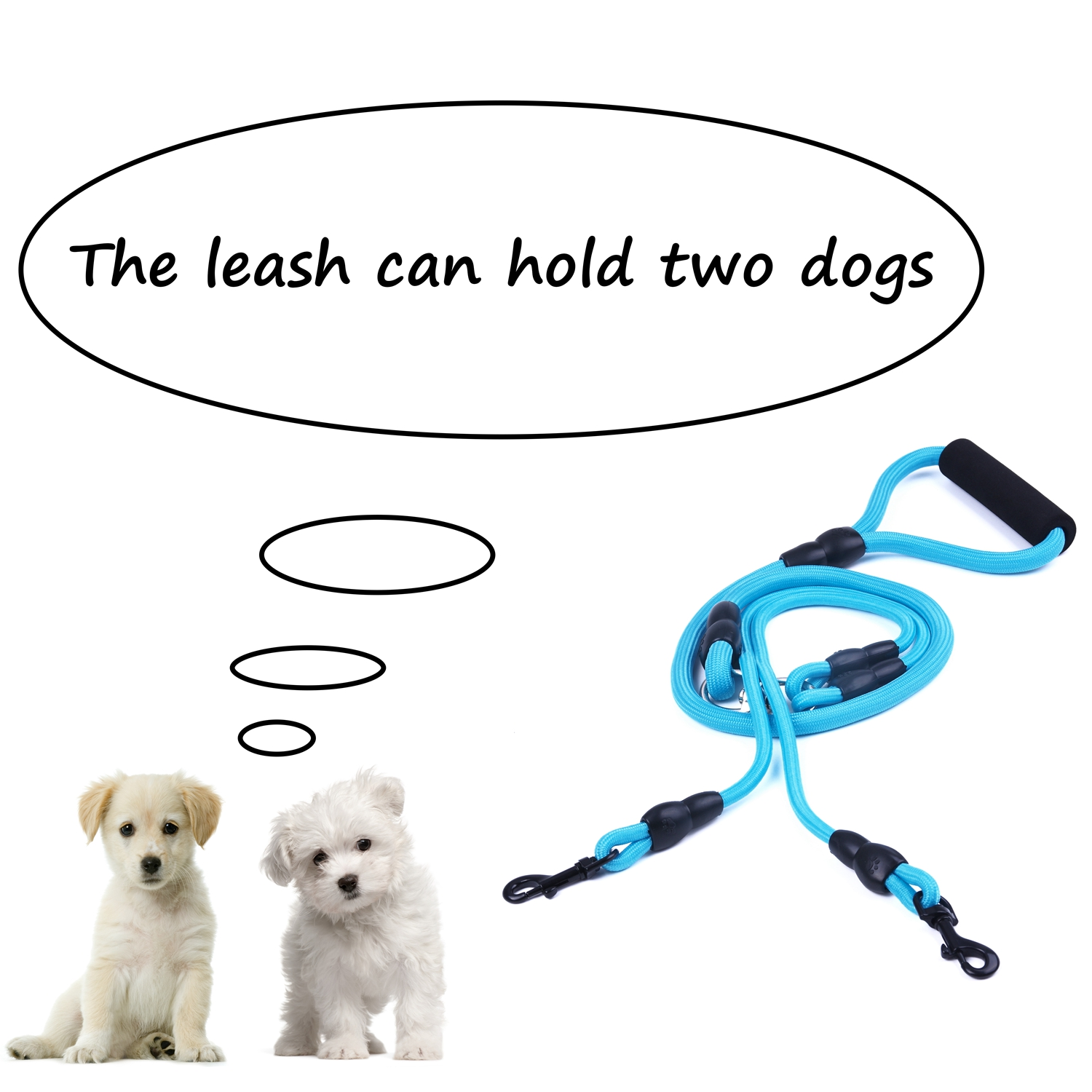 Dual-Double-Dog-Leash-Walking-No-Tangle-Lead-2-Way-Coupler-For-2-Pet-Dogs thumbnail 16
