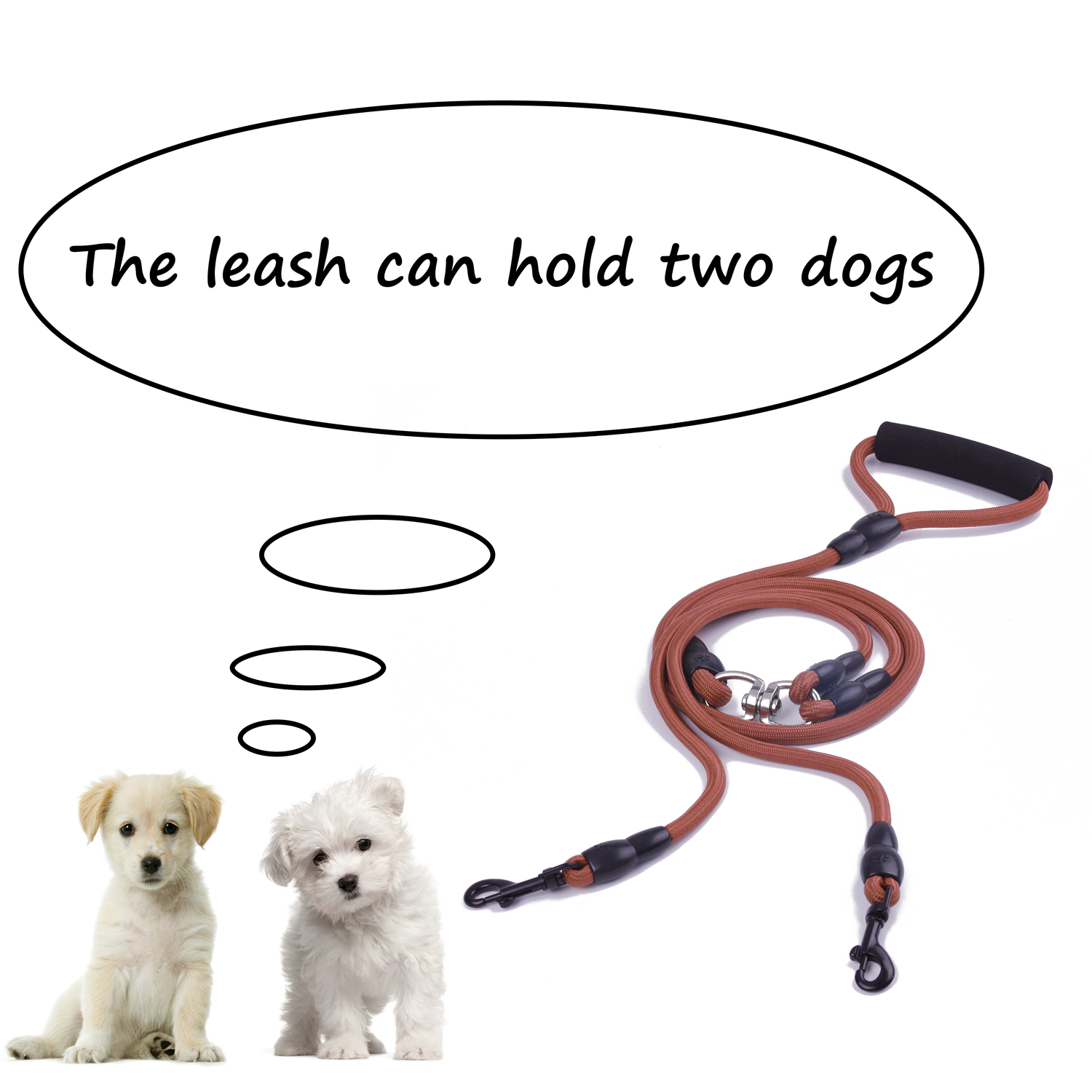 Dual-Double-Dog-Leash-Walking-No-Tangle-Lead-2-Way-Coupler-For-2-Pet-Dogs thumbnail 22