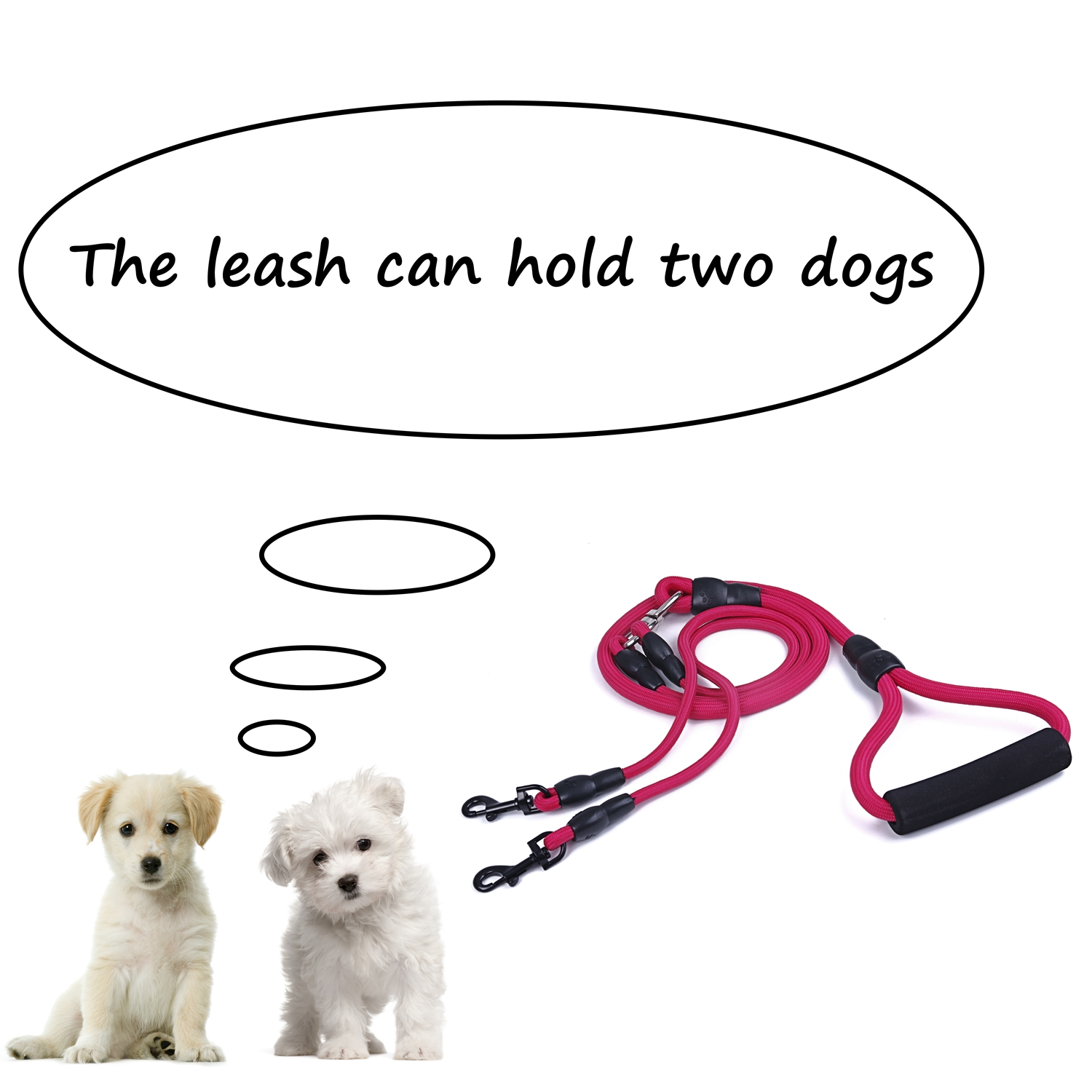 Dual-Double-Dog-Leash-Walking-No-Tangle-Lead-2-Way-Coupler-For-2-Pet-Dogs thumbnail 42