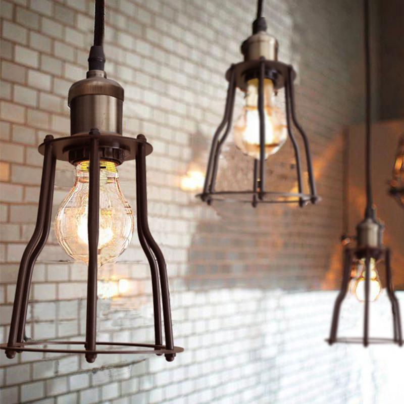 Cage Guard Pendant Lamp Industrial Edison Renaissance