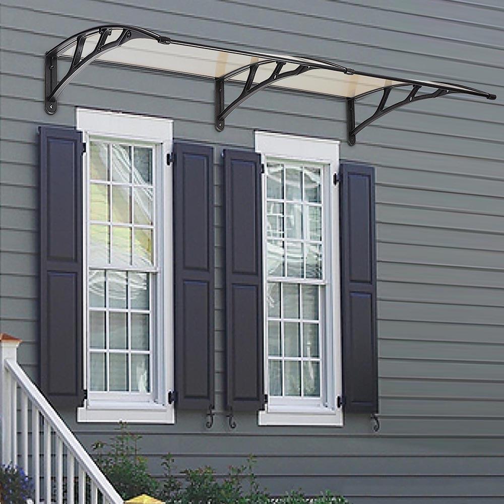 1m/2m One-piece Window Door Awning Outdoor UV Rain Cover