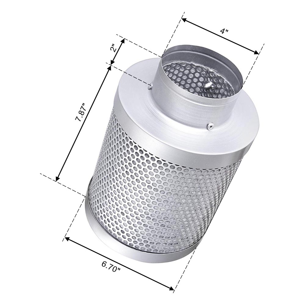 """4"""" 6"""" 8"""" Hydroponic Activated Carbon Filter Vent Duct Fan ..."""