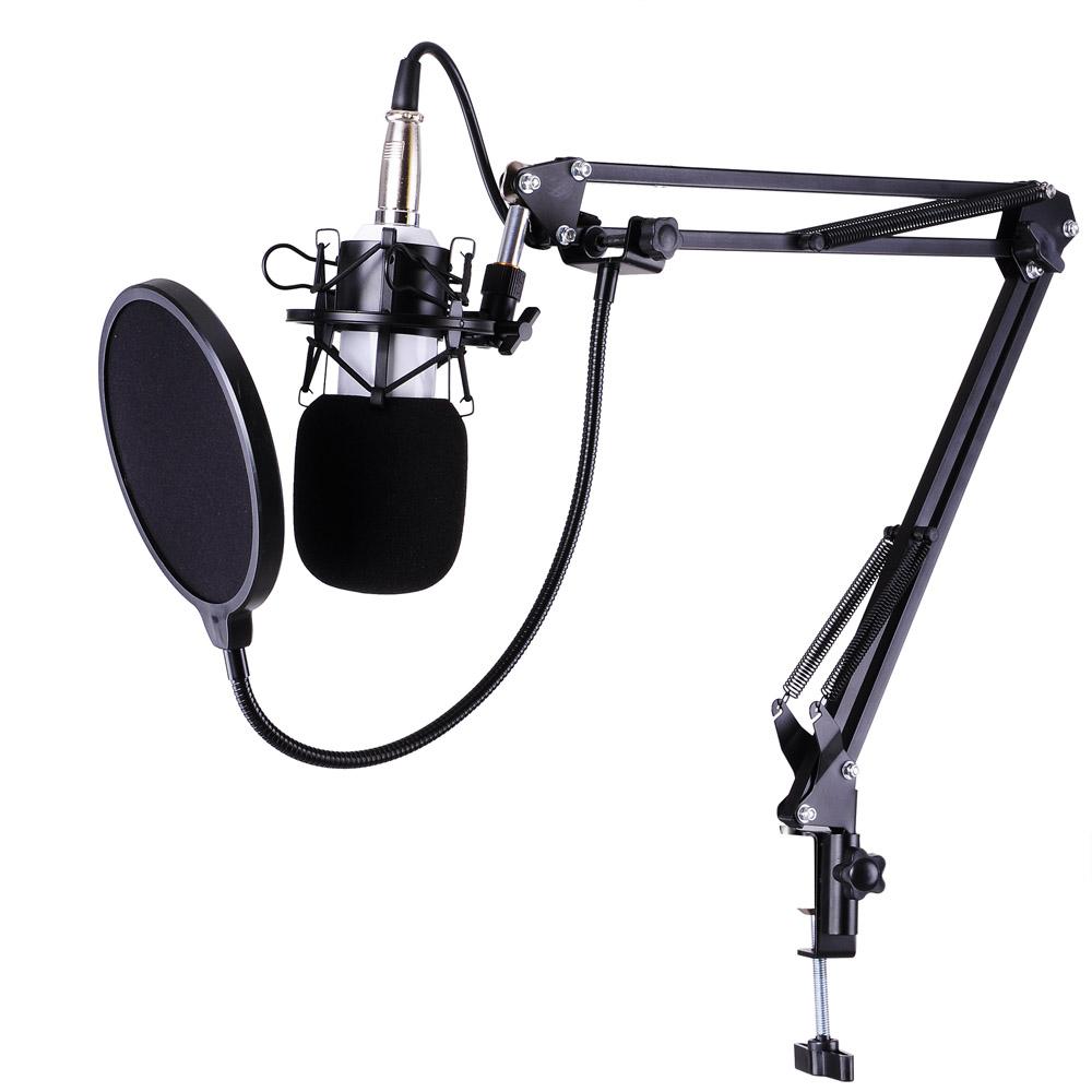 New Suspension Boom Scissor Microphone Stand Studio Radio Shock Mount Holder