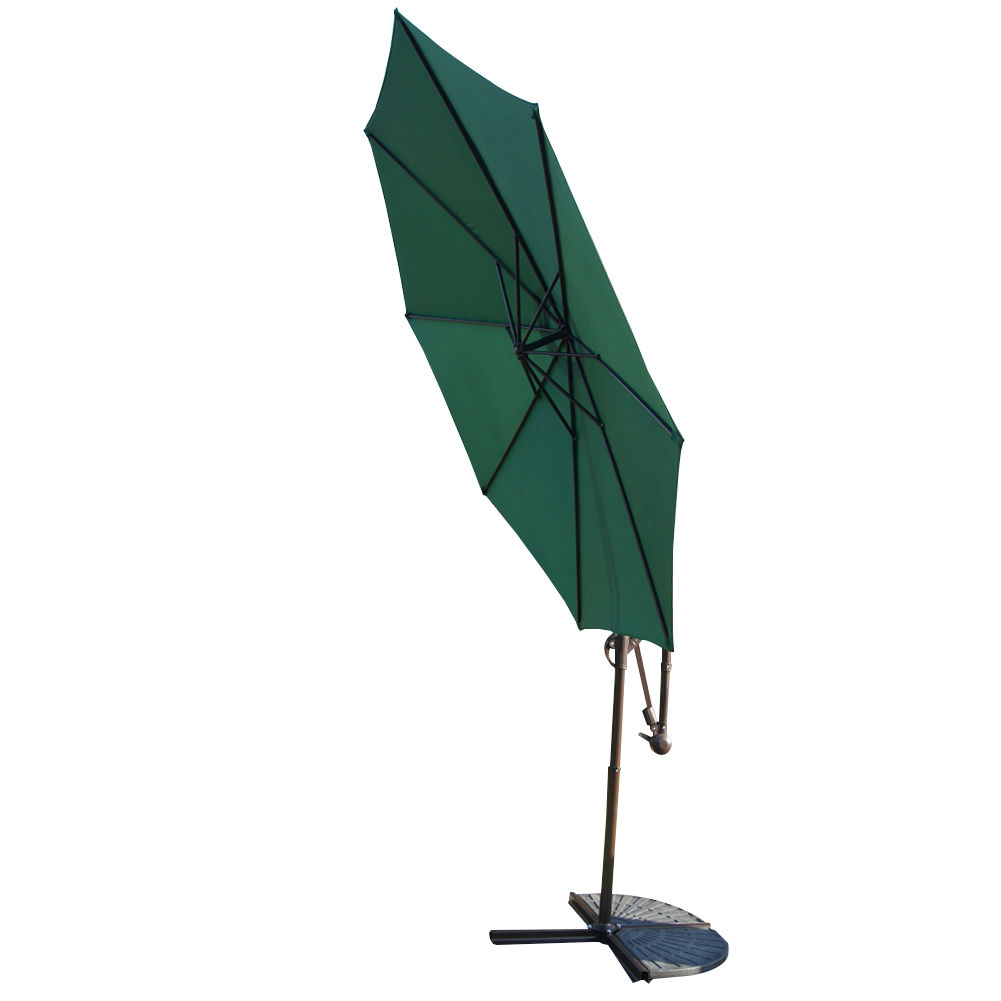 10 Feet Aluminum Offset Patio Umbrella Outdoor Yard Shade