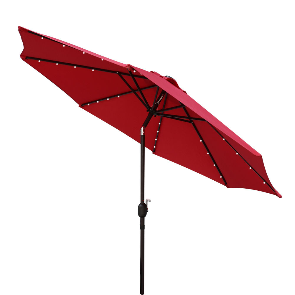 Solar Powered 32 Led Lighted Outdoor Patio Umbrella With
