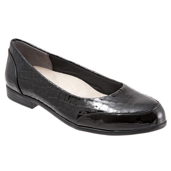 risparmia fino al 70% Trotters Donna  Arnello Flat in nero Croco Croco Croco (Narrow)  migliore vendita