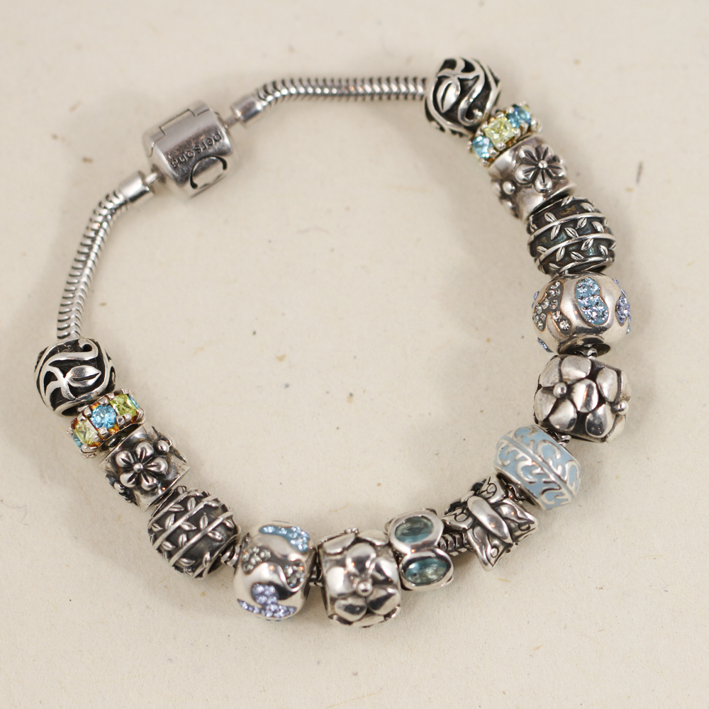 """Persona / Sterling """" Ill Fly Away """" Curated Butterfly Bead"""