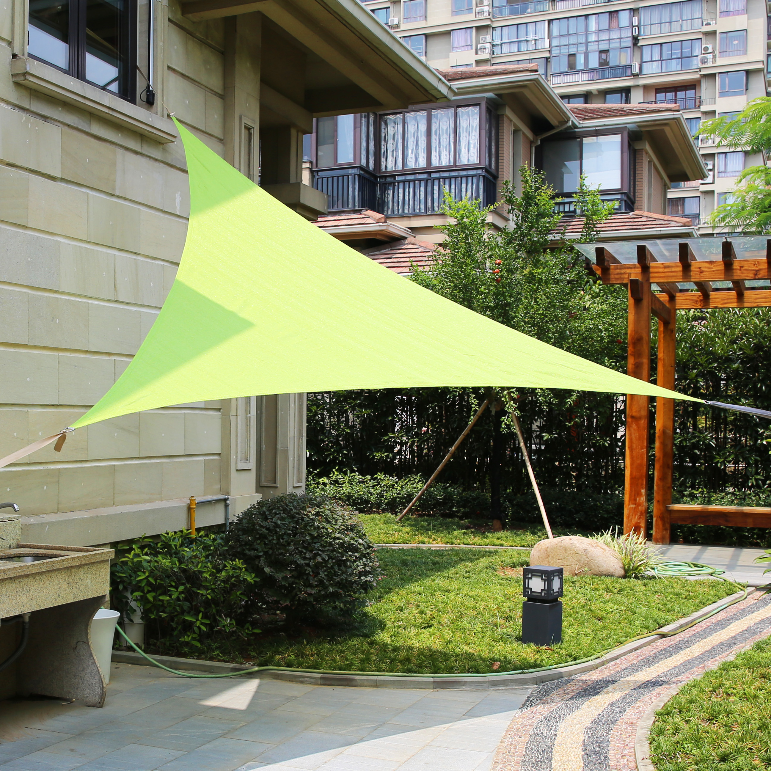 LyShade-12-039-Triangle-Sun-Shade-Sail-Canopy- & LyShade 12u0027 Triangle Sun Shade Sail Canopy - UV Block Patio Lawn ...